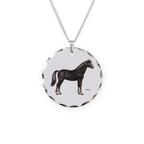 Morgan Horse Necklace Circle Charm