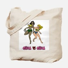 Girl VS Girl Handball Tote Bag
