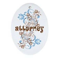 Attorney Gift Ornament (Oval)