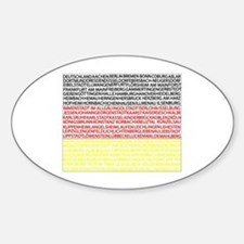 German Cities Flag Decal