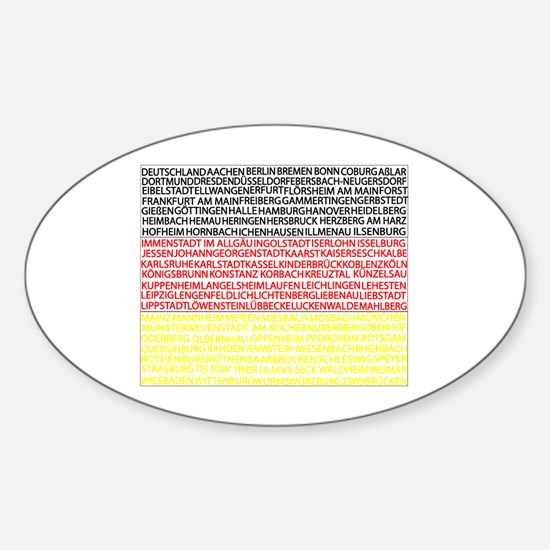 German Cities Flag Sticker (Oval)