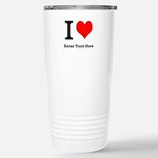 I love... Travel Mug
