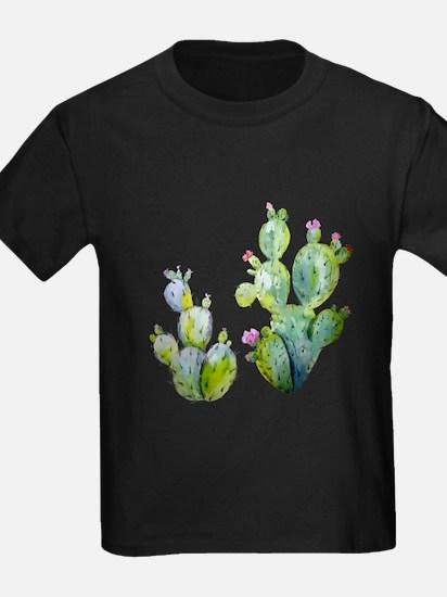 Blooming Watercolor Prickly Pear Cactus T-Shirt