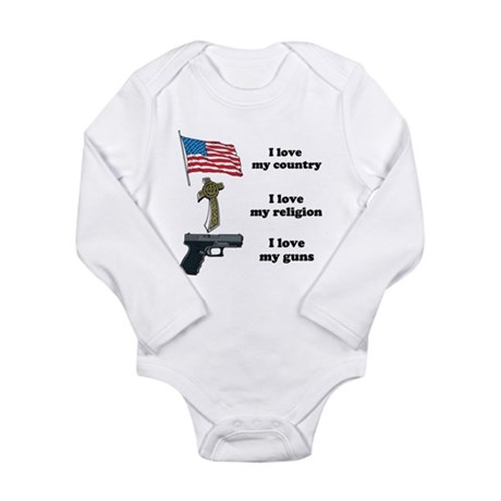 Country, Religion and Guns Long Sleeve Infant Body