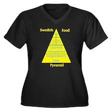 Swedish Food Women's Plus Size V-Neck Dark T-Shirt