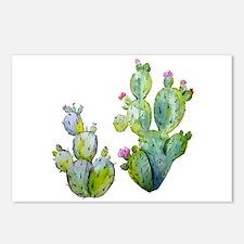 Blooming Watercolor Prick Postcards (Package of 8)