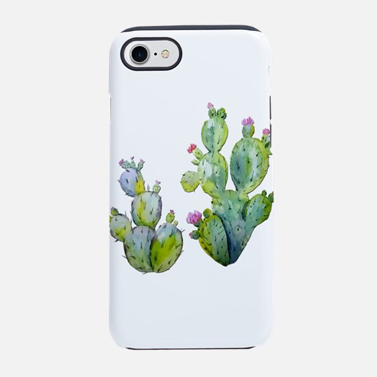Blooming Watercolor Prickly Pe iPhone 7 Tough Case