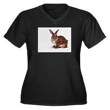 Cute I love rabbits Women's Plus Size V-Neck Dark T-Shirt
