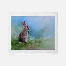 Funny Rabbit lover Throw Blanket