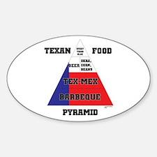 Texan Food Pyramid Sticker (Oval)