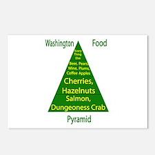 Washington Food Pyramid Postcards (Package of 8)