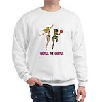 Girl VS Girl Basketball Sweatshirt