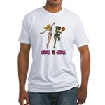 Girl VS Girl Basketball Fitted T-Shirt