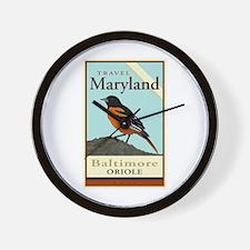 Travel Maryland Wall Clock