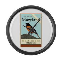 Travel Maryland Large Wall Clock