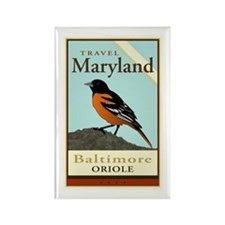Travel Maryland Rectangle Magnet