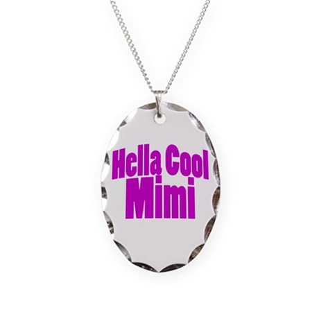 Hella Cool Mimi Necklace Oval Charm