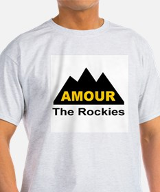 Amour The Rockies Ash Grey T-Shirt