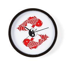 Yin Yang Koi Wall Clock