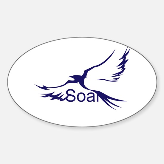Soar Navy Sticker (Oval)