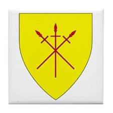 Red Spears Populace Badge Tile Coaster