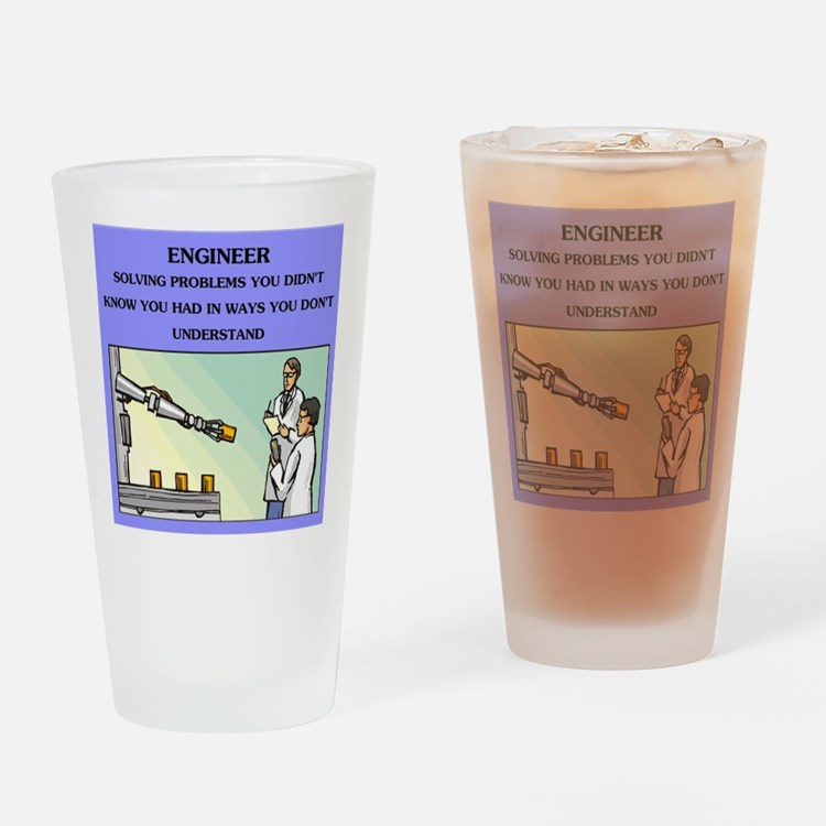 funny engineering joke Pint Glass