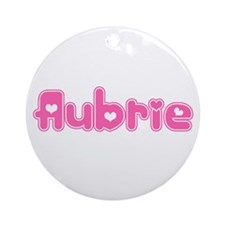 """Aubrie"" Ornament (Round)"