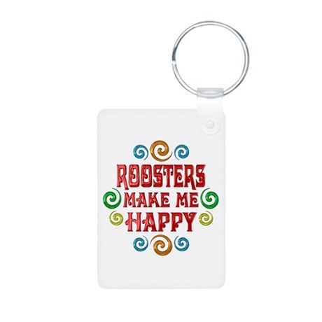 Rooster Happiness Aluminum Photo Keychain