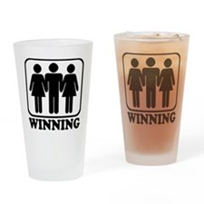 Winning Threesome Pint Glass
