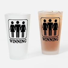 Winning Threesome Pint Glass
