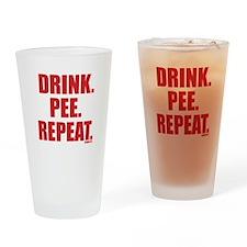 Drink. Pee. Repeat. Pint Glass