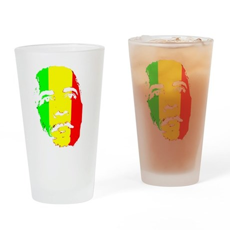 Obama Green Gold Red Face Pint Glass