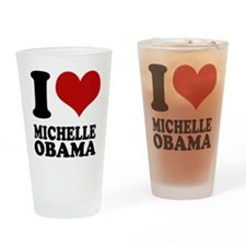 I love Michell Obama Pint Glass