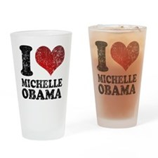 I heart Michelle Obama Pint Glass