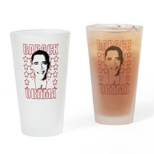 Barack Obama Stars Pint Glass