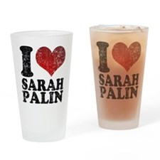 I love Sarah Palin Pint Glass