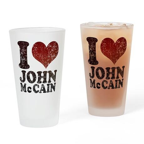 I love John McCain Pint Glass