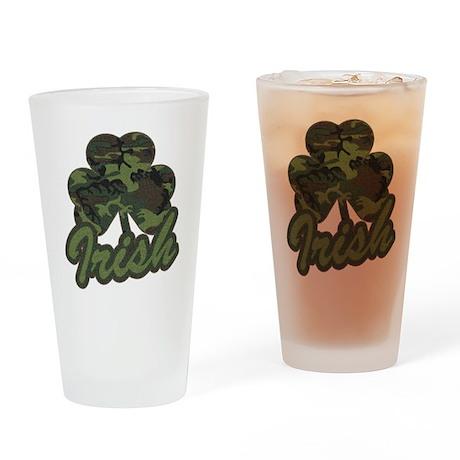 Irish Camo Shamrock Pint Glass