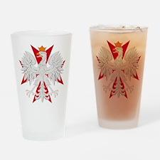 Polish Eagle Red Maltese Cros Pint Glass