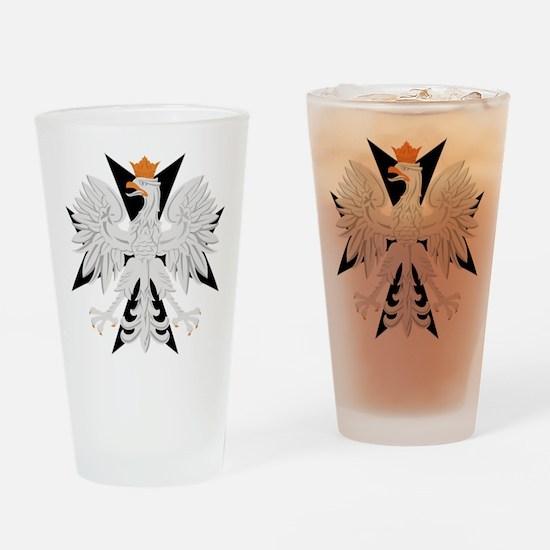 Polish Eagle Black Maltese Cr Pint Glass