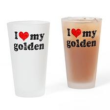 I love my Golden Retriever Pint Glass