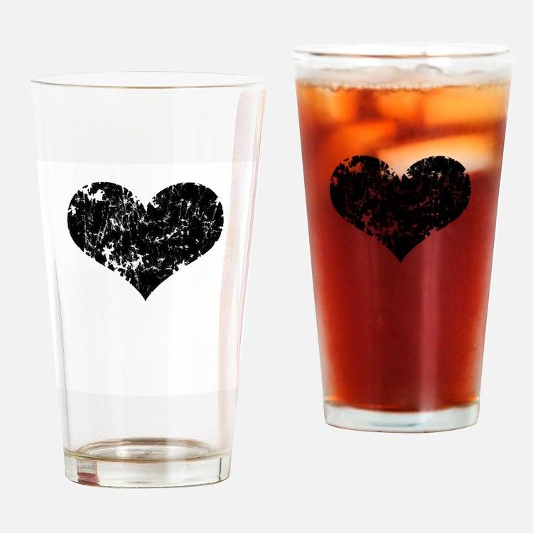 Vintage Heart Logo Pint Glass