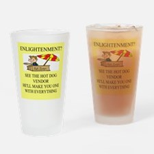 enlightenment joke Pint Glass