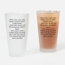 funny geek & professor Pint Glass