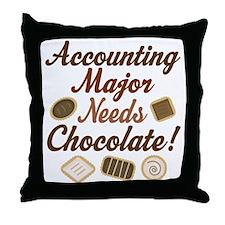 Accounting Major Gift Throw Pillow