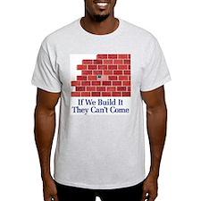 Build the Wall Ash Grey T-Shirt