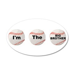I'm The Big Brother 38.5 x 24.5 Oval Wall Peel