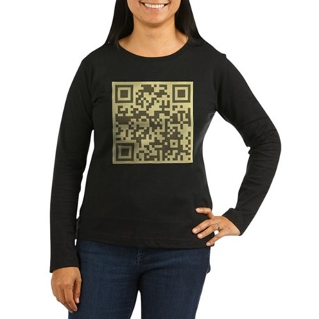 Magritte QR Women's Long Sleeve Dark T-Shirt