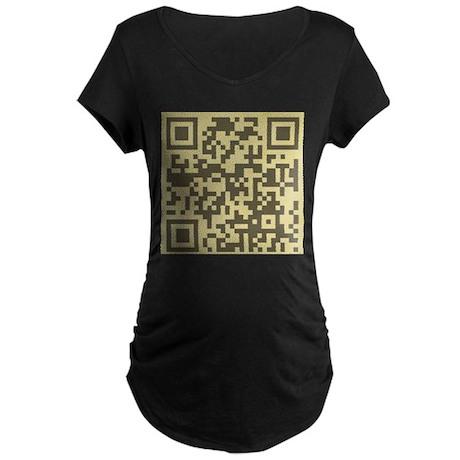 Magritte QR Maternity Dark T-Shirt
