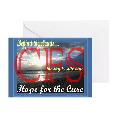 CFS - Hope for the Cure Greeting Cards (Package of
